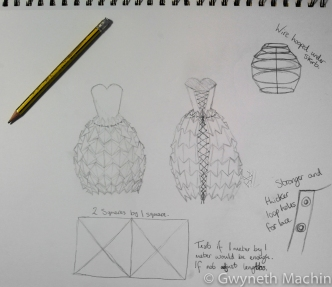 paper dress design